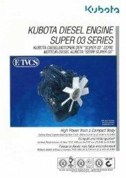 kubota diesel engine super 03 series - Diesel Parts & Services