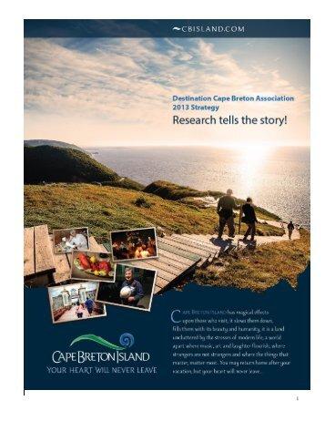 2013 DCBA Strategic Plan - Destination Cape Breton Association