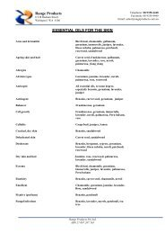 ESSENTIAL OILS - Range Products