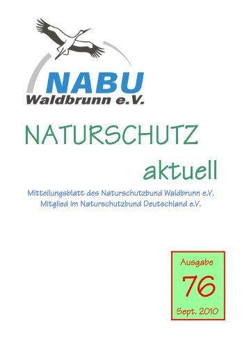 Naturschutz Aktuell Heft 76 - beim NABU Waldbrunn/Ww eV