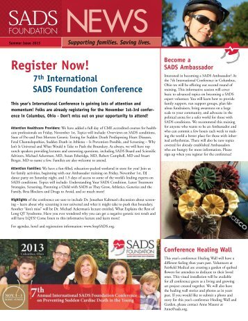 Summer 2013 - SADS Foundation