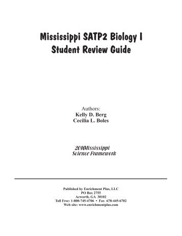 Mississippi SATP2 Biology I Student Review Guide - Enrichment Plus