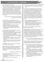 LISTA DE EXERCÍCIOS -‐ ILUMINISMO