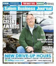 Mar 2013 - Salem Business Journal