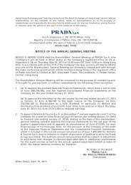 NOTICE OF THE ANNUAL GENERAL MEETING - Prada Group