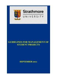 guidelines for management of student projects - Strathmore University