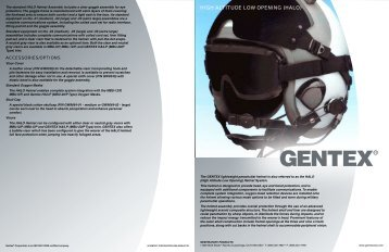 HIGH ALTITUDE LOW OPENING (HALO) - Gentex Corporation