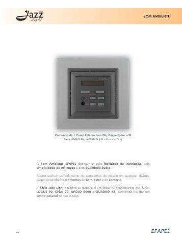 Download PDF Série Jazz Light - Efapel