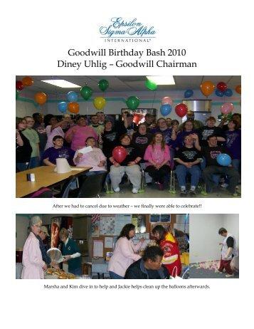 Goodwill Birthday Bash 2010 Diney Uhlig – Goodwill Chairman