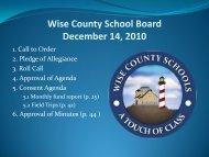 December 14, 2010 - Wise County Public Schools