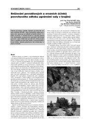 Snižování povodňových a erozních účinků povrchového odtoku ...