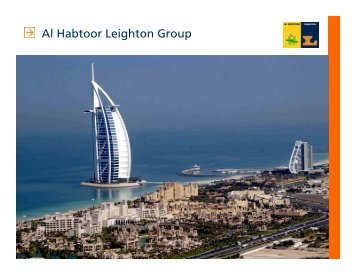 Al Habtoor Leighton Group - Presentation to Investors (PDF - 1.2 MB)