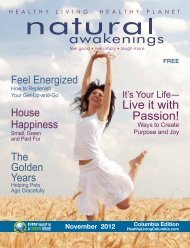 Live Your Passion & Purpose - Columbia Natural Awakenings–Home
