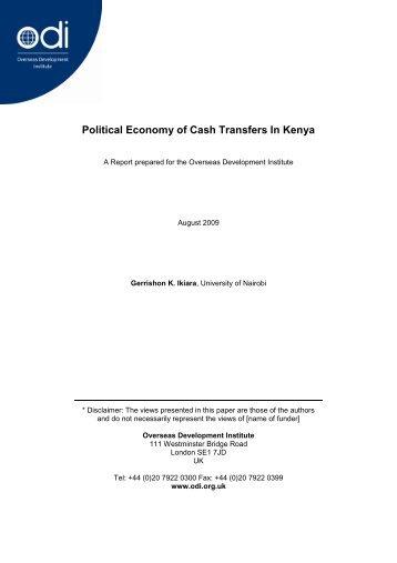 Political Economy of Cash Transfers In Kenya - Overseas ...
