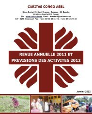revue annuelle 2011 et previsions des activites 2012 - caritasdev.cd
