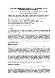 caracterização microbiológica e aceitação sensorial de ... - SOVERGS