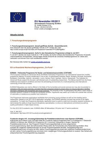 EU Newsletter 5/2009 - TU Berlin