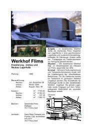 Werkhof Flims - Fontana und Partner