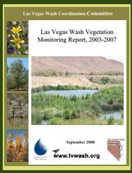 Vegetation Monitoring Report, 2003-2007 - Las Vegas Wash ...