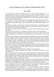 Corte di Cassazione, sez. IV, sentenza 27 settembre 2010, n. 34771