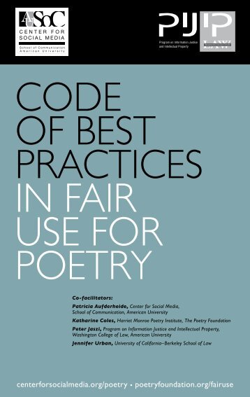 Code of Best Practices in Fair Use for Poetry - Poetry Foundation