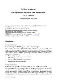 """Ihr Haus im Internet und Lexikonbeiträge """"ABC-Analyse"""" sowie"""