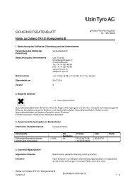 Sicherheitsdatenblatt Härter zu TR 101 - UZIN
