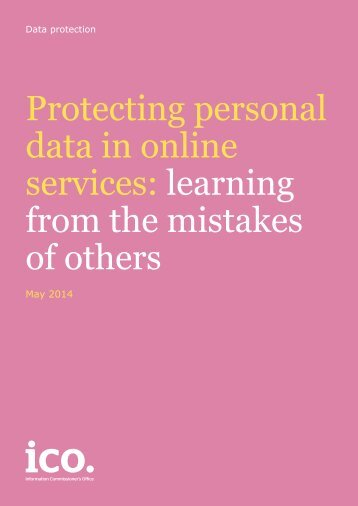 protecting-personal-data-in-online-services-learning-from-the-mistakes-of-others