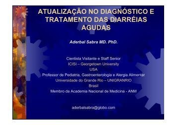 atualização no diagnóstico e tratamento das diarréias agudas