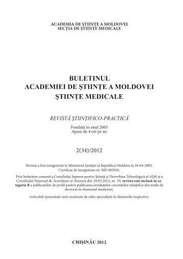 2012, nr. 2 - Academia de Ştiinţe a Moldovei