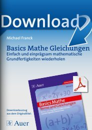 Basics Mathe Gleichungen