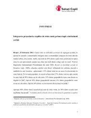 Integrarea prescolara a copiilor de etnie roma, prima ... - Salvati Copiii