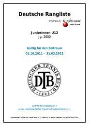 Deutsche Rangliste - Bezirk West