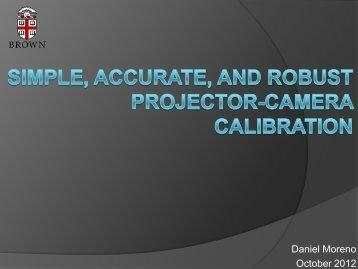 Presentation slides - TAUBIN GROUP @ Brown