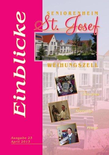 Einblicke Ausgabe 23 April 2013 - Seniorenheim St.Josef ...