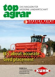 It's about accurate seed placement - Kuhn North America