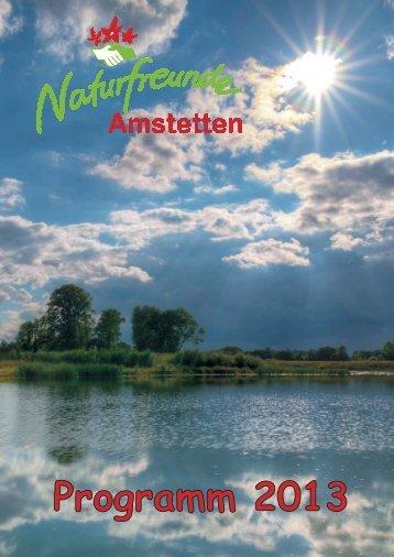 Programmheft 2013 - Amstetten - Naturfreunde
