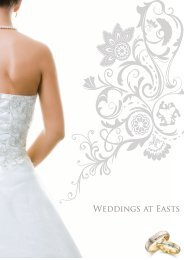 Weddings Packages 2010.pdf - Easts Leagues Club