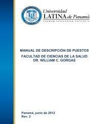 Manual de Descripción de Puestos - Universidad Latina de Panamá