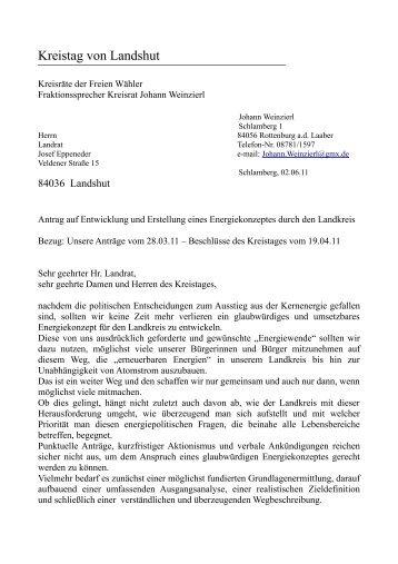 Kreistag von Landshut ... - Freie Wähler Landkreis Landshut