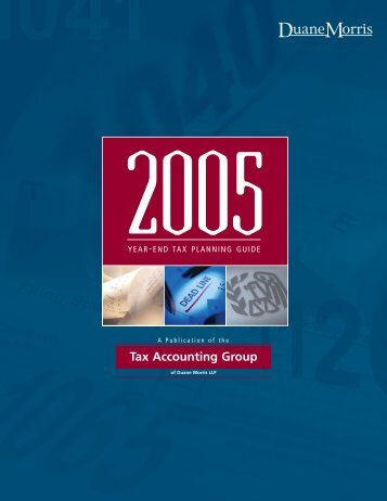 Tax Accounting Review 2005 Year-End Tax ... - Duane Morris LLP