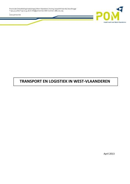 TRANSPORT EN LOGISTIEK IN WEST-VLAANDEREN - POM West ...