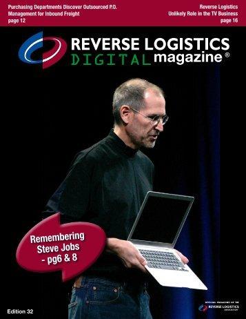 Remembering Steve Jobs - pg6 & 8 - Reverse Logistics Magazine