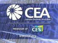 Consumer Electronics Industry Approaches and Initiatives for ...