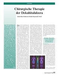 Chirurgische Therapie der Dekubitalulzera - Plastische Chirurgie ...