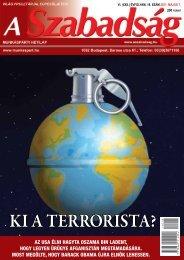 VI. (XXII.) ÉVFOLYAM 18. SZÁM - 2011. május 7. - A Szabadság