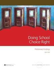 Doing School Choice Right - Center on Reinventing Public Education