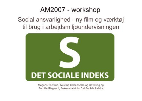 AM2007 - workshop