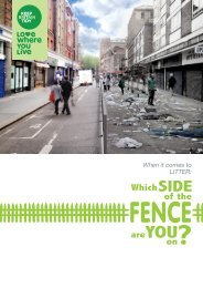 When it comes to litter – which side of the fence ... - Keep Britain Tidy