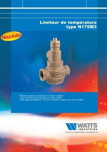 Limiteur de température type N170M3 - Watts Industries